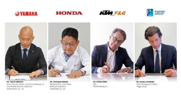 Honda, Yamaha, KTM i Piaggio podpisało porozumienie na rzecz wymiennych akumulatorów